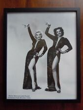 Marilyn Monroe Framed Photo Gentlemen Prefer Blondes 1953 with Jane Russell