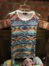 See You Monday Los Angeles Sleeveless Top Size Large Multicolor Aztec NWT
