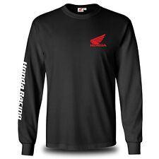 Genuine Honda Red Motocross Motorcycle Racing CBR Black Long Sleeve Men T-Shirt