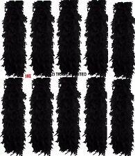 Vrac 10X noir en plumes Boa Wholesale Burlesque Enterrement Fancy Dress Party Lot