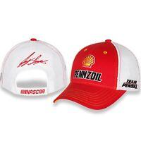 Joey Logano #22 Shell Penzoil 2021 Sponsor Mesh Trucker Nascar Hat / Cap