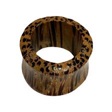 18 mm Piercing Tunnel Bois Cocotier Bijou Ethnique Unisexe Inde Indien