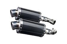 """Ducati Monster 796 Delkevic 9"""" Carbon Fiber Oval Muffler Exhaust Slip On 10-14"""