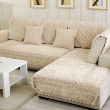 1pc Luxury Sofa Mat  Furniture Couch Slipcover Exquisite Rose Armchair Cover New