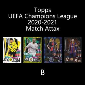 Topps UEFA Champions League 2020-2021 uefacl FOOTBALL SOCCER CARD B
