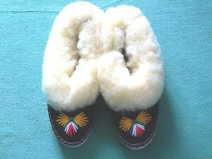 Lambswool Slippers Ladies, Lined M.Lambskin, Slippers Size 35 - 41