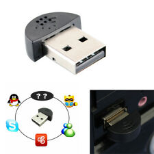 Super Mini USB 2.0 Microphone Audio Adapter Driver Free for MSN PC Notebook m