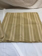 RALPH LAUREN PAIR OF STRIPED PILLOW COVERS Driftwood in Celery
