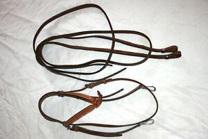 Unbenutzt: Trense, Westerntrense, Kopfstück mit Zügeln, offene Strings, echtes L