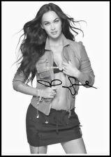 Megan Fox, Autographed, Pure Cotton Canvas Image. Limited Edition (MF-102)
