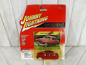 Johnny Lightning Classic Gold Collection  Red1949 Mercury w/ Rubber Tires  2000