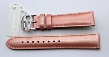 New MICHELE 18mm Serein Deco Csx36 Pink Leather Watch Strap - USA MS18AA050505