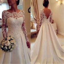 Vestido De Noiva Backless Long Sleeve Wedding Dresses Plus Size 2017 Fat Bridal
