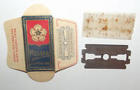 ANCIENNE LAME DE RASOIR NEUVE . LAME MOSSER HAGUENAU 67  . RAZOR BLADE