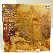 """Mozart Symphonies 34, 38 """"Prague"""" & Menuetto Marriner Philips 9500 791 Mint LP"""