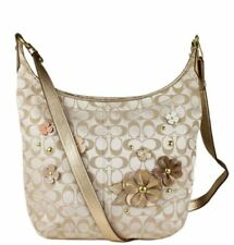 NWT $358 Coach Signature Floral Flower Applique Duffle Handbag Tote 18896 B4FO