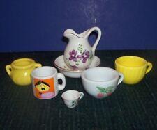Mini Tea Cups-Mugs - Souvenir State Cups - Mini Sugar Bowl- Mini Pitcher-Bowl