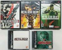 Metal Gear Solid games  (Playstation 2) PS2  Tested.