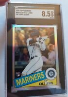 Kyle Lewis 2020 Topps Chrome RC Refractor 1985 SGC 8.5 NM-MT+ Seattle Mariners
