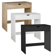 More details for 1 drawer dressing table wooden vanity computer desk bedroom furniture office new
