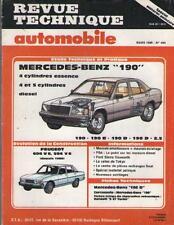 Revue Technique MERCEDEZ BENZ 190 E D 2.5 Essence Diesel - PEUGEOT 604 V6 504