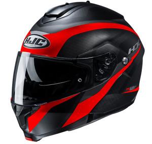 NEU HJC Helm C91 TALY red Klapphelm schwarz rot matt  L = 59/60 Sonnenblende
