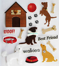 Paper Cellar 3D Dogs, Card Craft, Embelishment, Toppers, Adhesive, Stickers