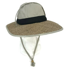 df64befab98cc Columbia Unisex Men s Canvas Straw Raffia Brim Outdoor Sun Hat Chin Strap  Beige