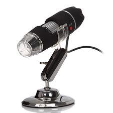 Nouveau microscope numérique usb 8 led lumière stand 50x et 500X zoom mode webcam
