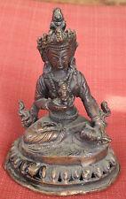 "Slightly Old Bronze Vajrasattva Statue for Dharma in Nepal, Tibet 5"" High"