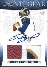 Sam Bradford Auto 2 Relic Jersey Patch National Treasures BGS 9 Rookie Card RC