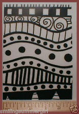 ATC size Deep Etch UM rubber art stamp-polymer clay 9