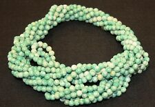 "Twist A Beads Genuine 1980's Original Necklace 32-35"" strands-GREEN AMAZONITE"