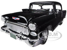 1955 CHEVROLET BEL AIR BLACK HARD TOP CUSTOM 1/18 MODEL CAR BY MOTORMAX 79001
