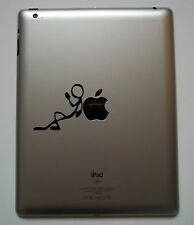 Stick Man Chilling Decal - Vinyl Sticker iPad Mac Macbook Chilling iChill Tablet