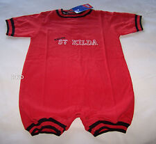 St Kilda Saints AFL Boys Red Black Embroidered Romper Grow Suit Size 1 New