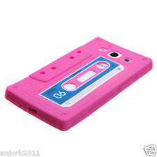 SAMSUNG GALAXY SIII 3 GS3 SILICONE SKIN CASE COVER RETRO CASSETTE PINK