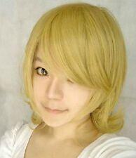 Vocaloid 2 Kagamine Rin Sakura Cosplay Perücke wig blond gelb gold