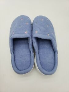 Isotoner Women's Classic Terry Clog Slippers Slip on purple no tags size 6.5- 7