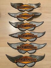 Lot of (6) Vintage Official Harley Davidson Patch Eagle Wings
