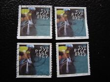 SUEDE - timbre yvert et tellier n° 2101 x4 obl (A29) stamp sweden (A)