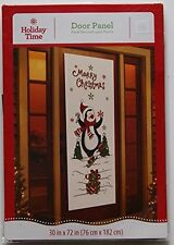 ToKaLand Holiday Time Christmas Door Panel - Penguin Decoration 30x72 Plastic