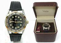 Orologio Vetta Age 0911.50 vintage watch stainless steel clock never used reloj
