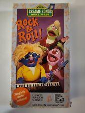 Sesame Street - Sesame Songs -  Rock & Roll VHS - 1990 Rare VHS Home Video USED