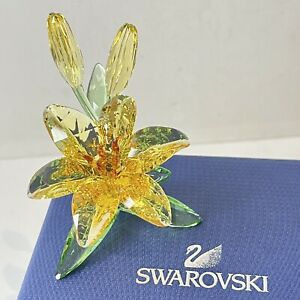 Authentic Swarovski Yellow Lily Crystal Figure Ornament Boxed