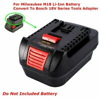 1Pcs Milwaukee M18 Li-Ion Battery Convert To Bosch 18V Series Tools Adapter NEW