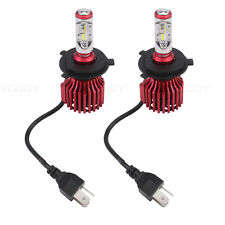 2X H4 Hi/Lo Car LED Conversion Headlight Kit Bulbs 10000LM 60W Super Bright Lamp