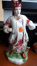 Superbe grand vintage ukrainien russe porcelaine odarka Opéra folk art figure