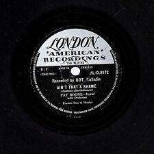 UK #7 PAT BOONE 78 AIN'T THAT A SHAME /TENNESSEE SATURDAY NIGHT LON. HLD 8172 V+