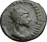Quintillus  270AD Authentic Genuine Rare Ancient Roman Coin FORTUNA LUCK i58953